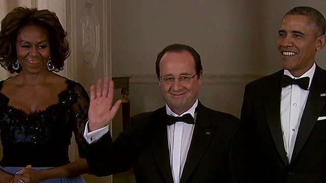 Hollande attends all-star state dinner