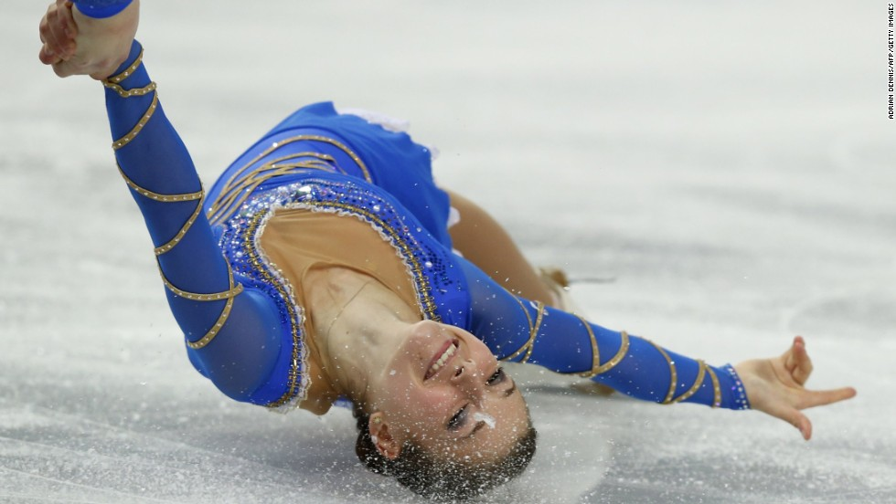 Israel's Evgeni Krasnopolski and Andrea Davidovich compete in pairs figure skating on February 12.