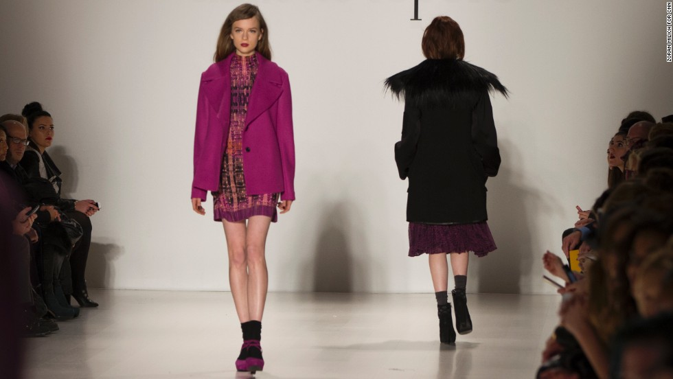 Designer Nanette Lepore kept to her bold color aesthetic during her fashion show on February 12.