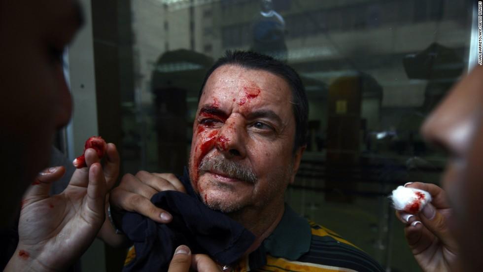 Algunos jóvenes han resultado heridos en el marco de estas acciones.