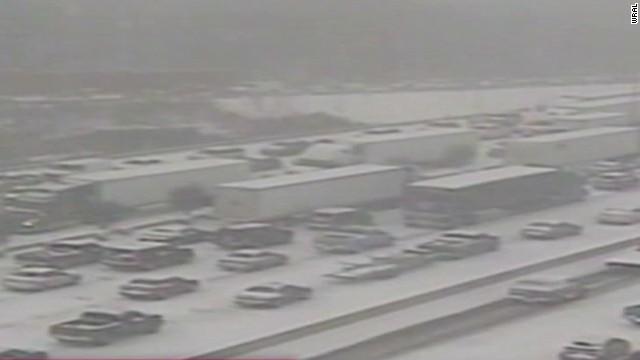 Massive traffic jam in North Carolina