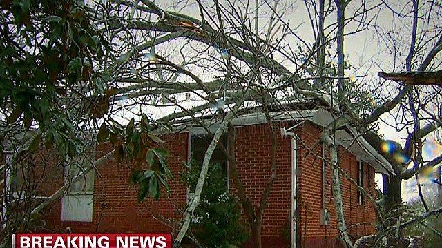 Elderly woman survives roof collapse