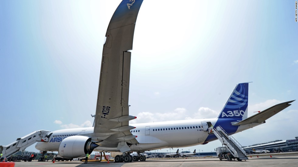 Airbus have been developing the plane since 2006. It will be made of 53% composite materials.