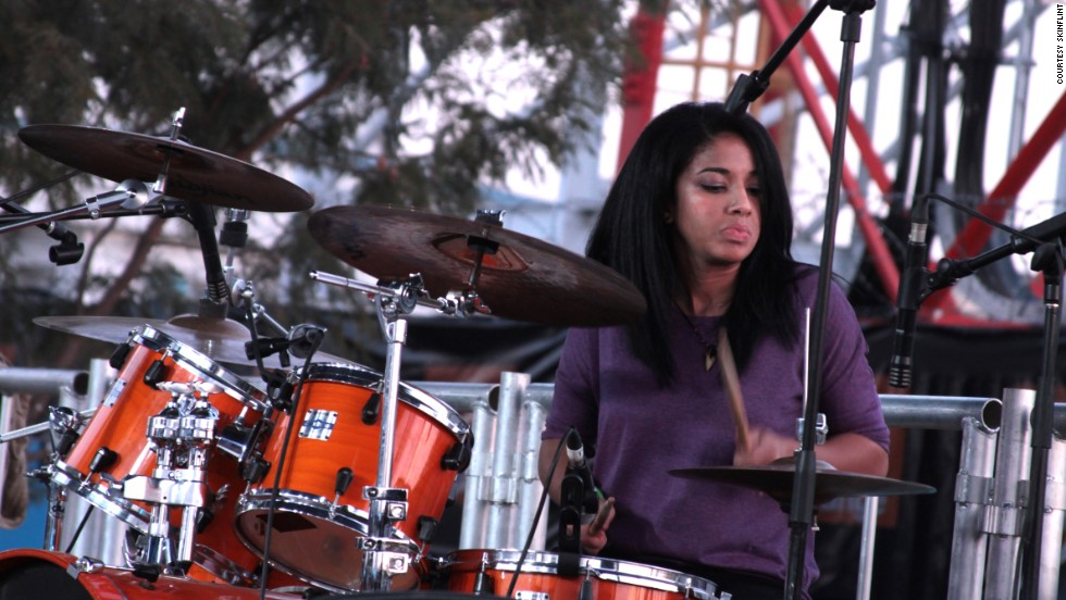 "Skinflint's new drummer, Alessandra Sbrana, is a rare female musician in Botswana's rock scene.<br />One female rock fan, Katie, told CNN: ""I just enjoy it. It's a happy feeling. If you knew my brothers and sisters, it's something that we are as a family."