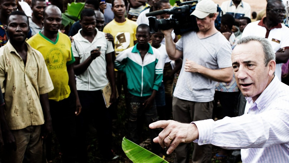 Nestle's Jose Lopez meets villagers in the Ivory Coast who work in the cocoa industry; the company has pledged to do more to support those at the bottom of the cocoa value chain.