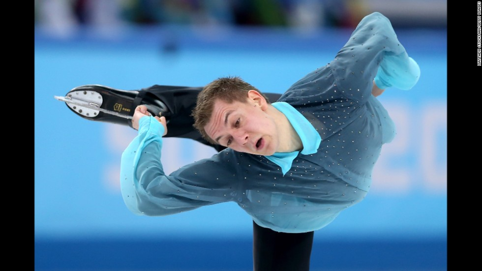 Peter Liebers of Germany competes in the men's figure skating event February 13.