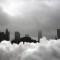 New York skyline Snow