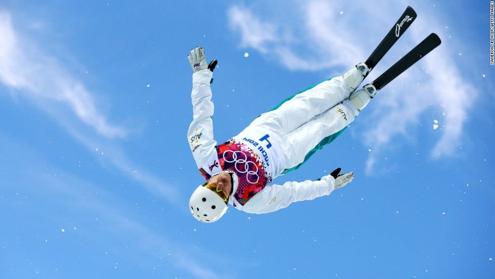 Lydia Lassila of Australia competes in women's aerials on February 14.