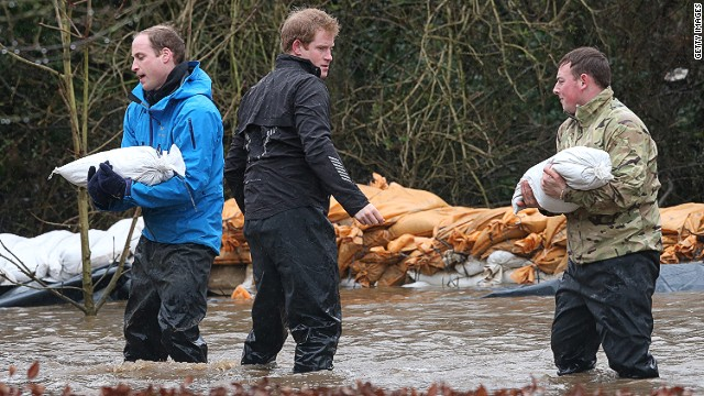 Princes pitch in on flood relief efforts