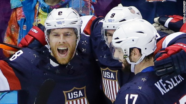 U.S. beats Russia in Olympic hockey