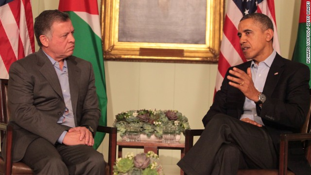 Jordan's King Abdullah II meets with President Barack Obama on Friday at the Sunnylands Estate in Rancho Mirage, California.