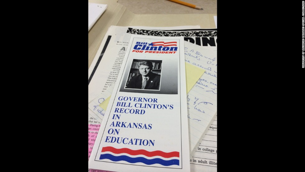 During the 1992 presidential campaign, Blair was the go-to person if questions arose<strong> </strong>about Clinton's record as Arkansas governor. This flier explains how he handled education issues in the state.