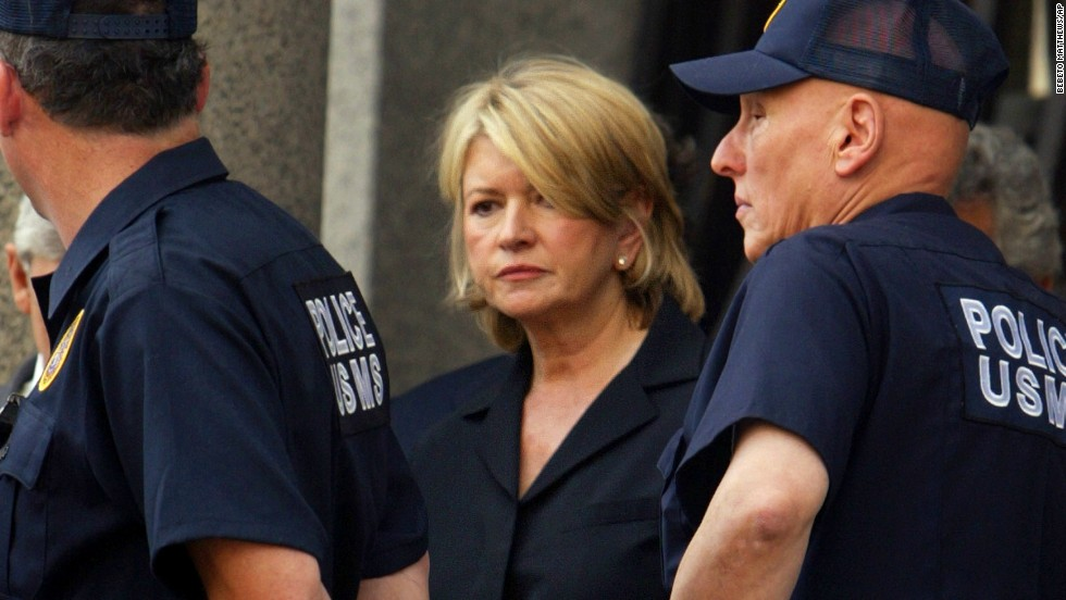 Domestic goddess Martha Stewart has moved on from July 2004, when she was flanked by U.S. Marshals after her sentencing at Manhattan federal court in New York. Stewart  received five months in prison and five months of home confinement for lying about a stock sale.
