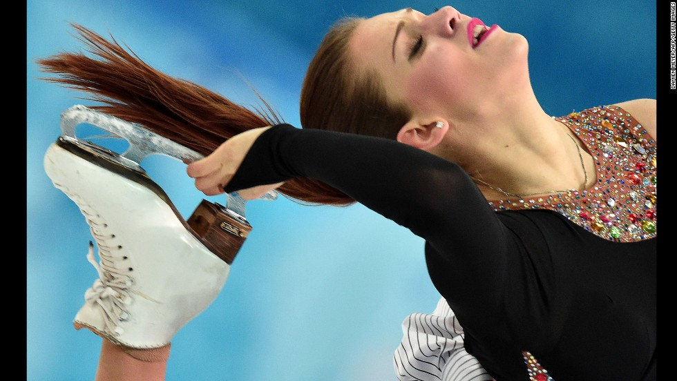 Turkish ice dancer Alisa Agafonova performs on February 16.