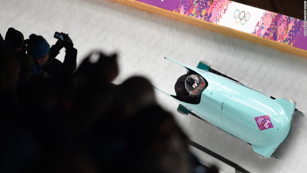 Japan's Hiroshi Suzuki and Hisashi Miyazaki compete on February 16.