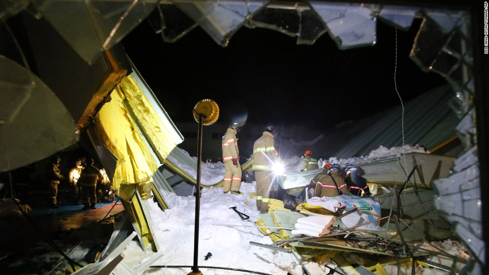 Rescue efforts are under way to find dozens of people who are still trapped.