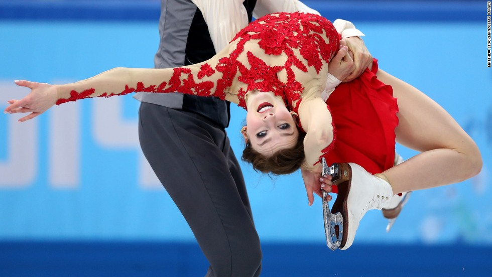 Ice dancers Alexandra Paul and Mitchell Islam compete for Canada on February 17.