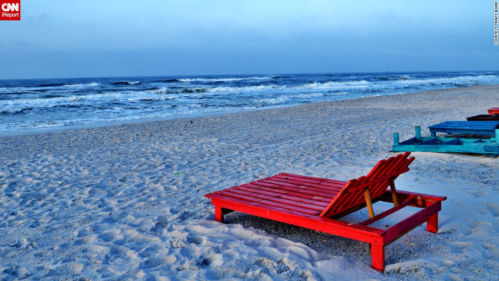 """Care to lounge? <a href=""""http://ireport.cnn.com/docs/DOC-1078272"""">Tracy Bond</a> took this photo at Topsail Hill Preserve State Park near Destin. """"Each sunrise or sunset is unique and beautiful."""""""
