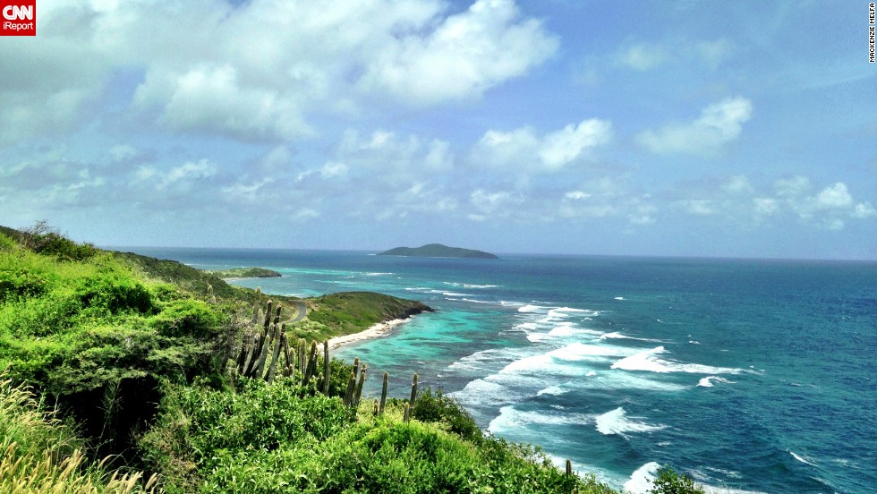 "Travel agent <a href=""http://ireport.cnn.com/docs/DOC-1082521"">Mackenzie Melfa </a>took this shot of the view of Boiler Bay from St. Croix's Point Udall. ""The colors on the east side of St. Croix are amazing. The blues and greens are so vibrant!"""