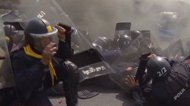 Police, protesters exchange gunfire