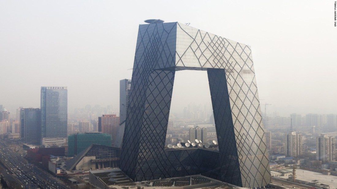 The building opened in 2008 in Beijing's Central Business District.