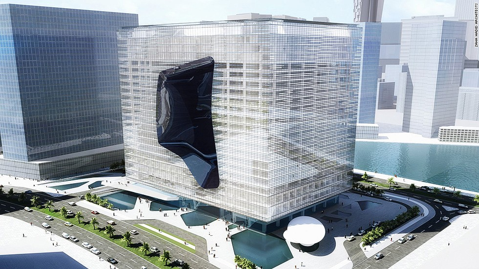 "<em>Opus Office Tower, Abu Dhabi</em><br /><br />Upon completion Zaha Hadid's <a href=""http://www.zaha-hadid.com/architecture/opus-office-tower/"" target=""_blank"">Opus Office Tower</a> will consist of two structures, conceived as a single cube eroded by a free-form void. Given the temperatures in the United Arab Emirates, you might mistake it for an ice cube whose mid-section has melted away."