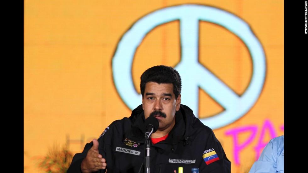 Maduro, durante la presentación de un plan de paz el 14 de febrero.