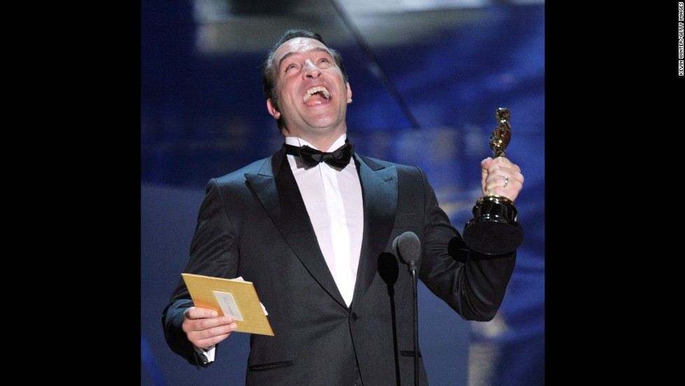 """The Artist,"" a silent, black-and-white movie, was a celebration of old-school film. Its star, French actor Jean Dujardin, seemed to have a virtual lock on the best actor Oscar, even though he was competing against the likes of George Clooney and Brad Pitt. When awards night arrived in 2012, Dujardin walked away with the prize."