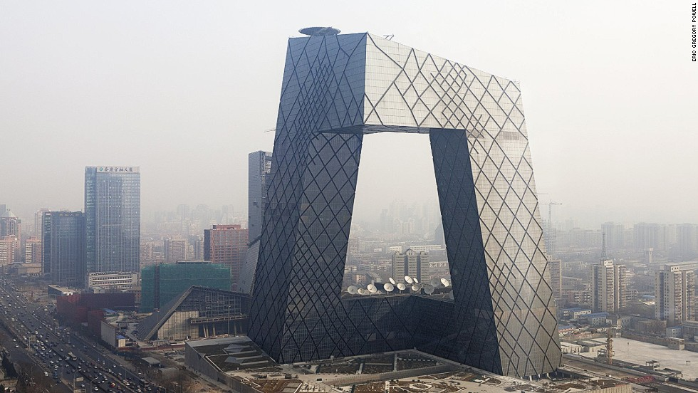 "<em>Beijing CCTV Tower </em><br /><br />Architect Rem Koolhaas famously declared that he wanted to ""kill the skyscraper."" As part of his assault, he conceived the <a href=""http://www.oma.eu/news/2012/cctv-completed"" target=""_blank"">Beijing CCTV Tower</a>, an oddly-shaped complex of six interlocking vertical and horizontal structures. The 44-storey building includes a large hole in the center, which explains why locals sometimes refer to it as ""big boxer shorts"". In 2013 the Council on Tall Buildings and Urban Habitat named it the Best Tall Building Worldwide."