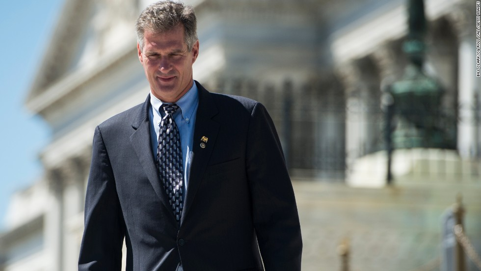 Scott Brown knows how to stay in the spotlight. And for a politician who's sitting on the sidelines, possibly waiting to make his next move, staying in the spotlight is smart politics. Here, then-Sen. Brown on the Senate steps in Washington in July 2012.