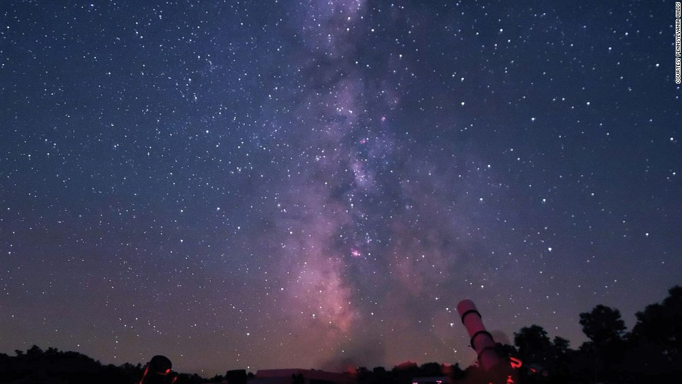 Visibility at Cherry Springs can be so good that the Milky Way is sometimes bright enough to cast shadows on the ground.