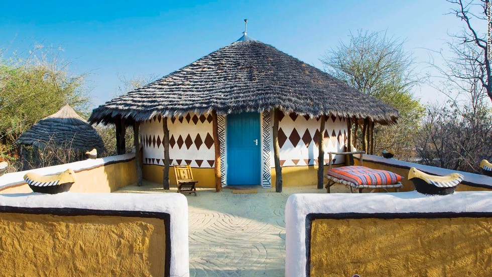 Planet Baobab is named after the baobab trees stretching over the hotel's thatched huts in Gweta, Botswana.