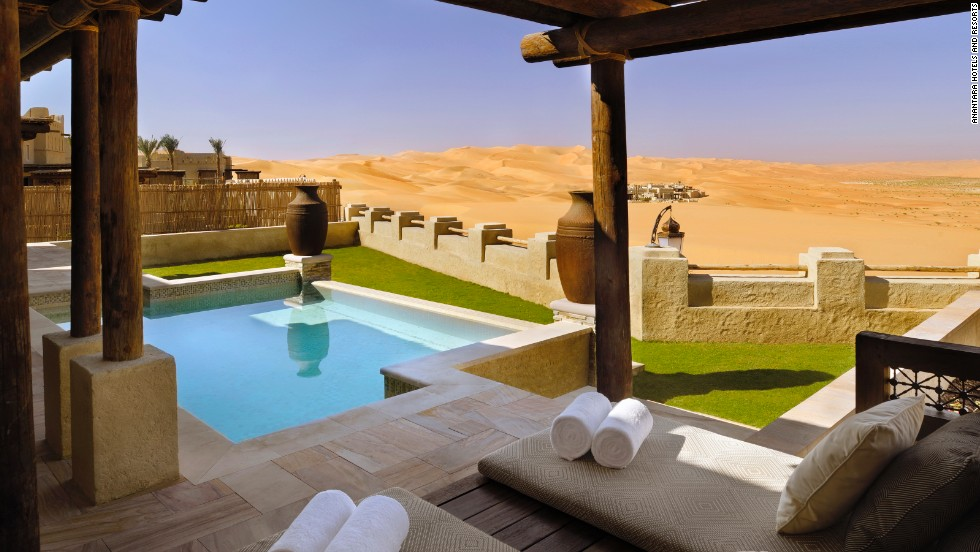 Take a camel ride or book a Bedouin feast on the sands when you stay at Qasr Al Sarab.