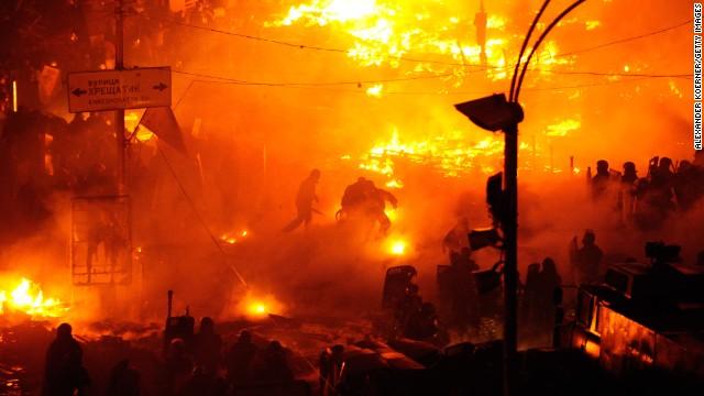 Fires continue amid Ukrainian protests