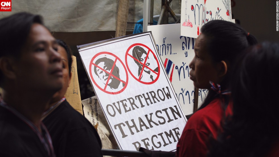 "Freelance translator and journalist <a href=""http://ireport.cnn.com/docs/DOC-1081107"">Agata Kowalska</a> captured these images of anti-government protesters in Bangkok a day before the country's troubled elections on February 2."