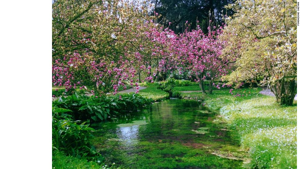 Once a malarial swamp, the Ninfa Gardens are now a paradise where the only sound is running water and whirring of wings.