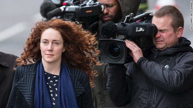 Former News International chief executive Rebekah Brooks arrives at the Old Bailey on February 19, 2014 in London, England.