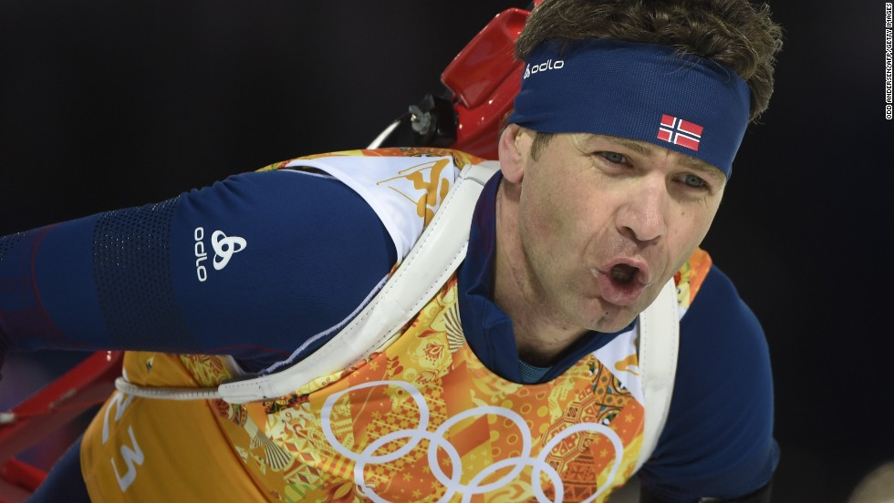 Biathlete Ole Einar Bjoerndalen became the most decorated Winter Olympian of all time after being part of the Norway team's success in the mixed relay -- it was the eighth gold of his career and 13th overall.