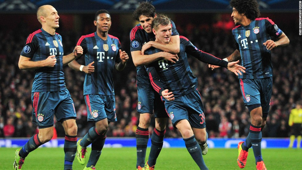 Bayern showed its class, however, against the 10-man home side as Toni Kroos scored a spectacular opener and Thomas Muller doubled the scoring late on, giving the defending champion a big advantage to take back to Germany.