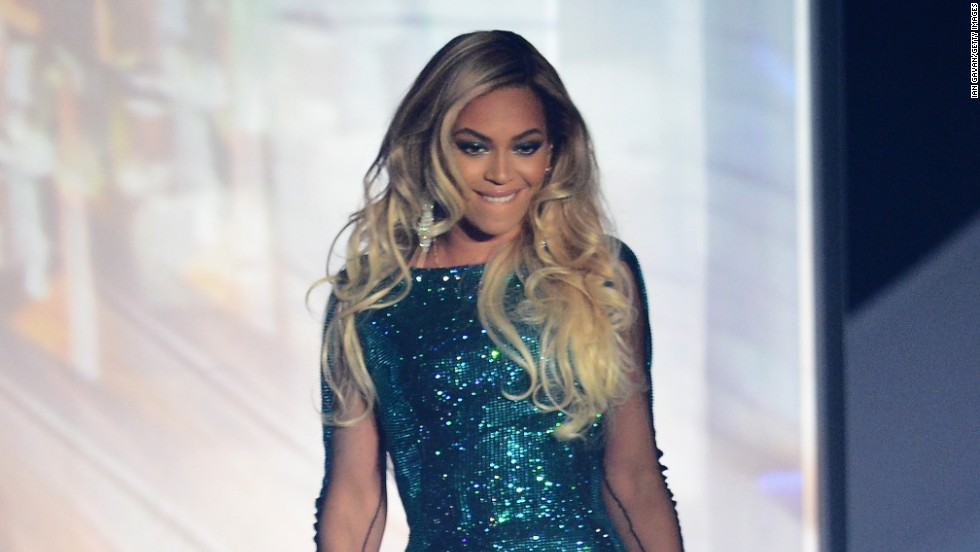 Beyonce performs at The BRIT Awards 2014 on February 19 in London, England.
