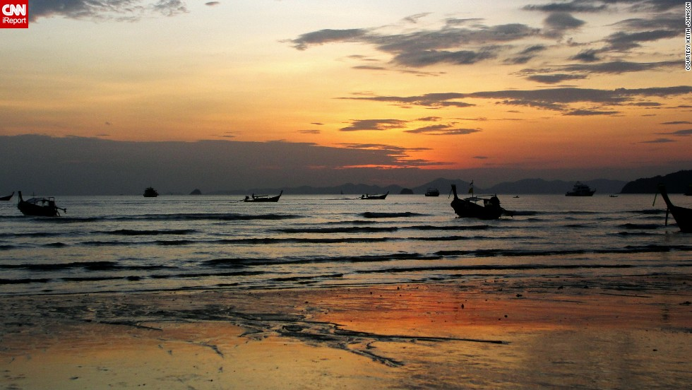 Keith Johnson shot this sunset from Ao Nang Beach right after he returned from a longtail boat excursion.