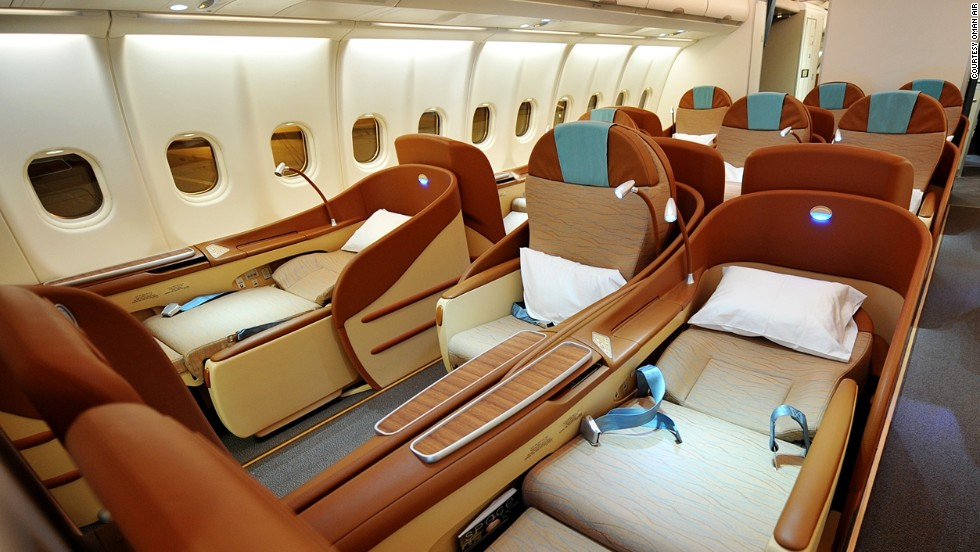 <strong>2. Oman Air. </strong>This airline offers door-to-door service with complimentary chauffeur-driven airport transfers in select destinations such as Paris, London, Muscat, Oman and Mumbai, India.
