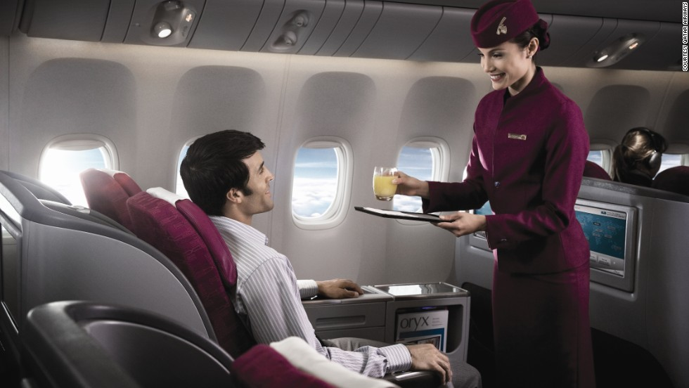 <strong>3. Qatar Airways.</strong> The airline was the first to offer different wine selections going East and West out of Doha, Qatar, so that frequent fliers enjoy different selections on each leg