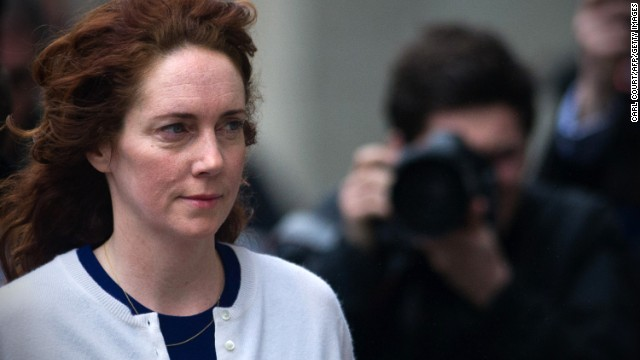 Rebekah Brooks arrives for the phone-hacking trial at the Old Bailey court in London on February 20.