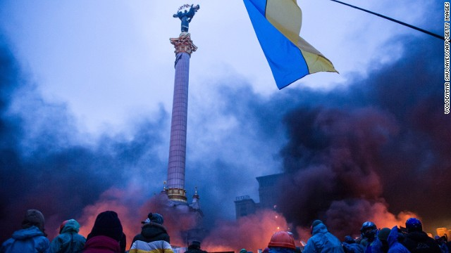 Take a tour of Kiev's Independence Square