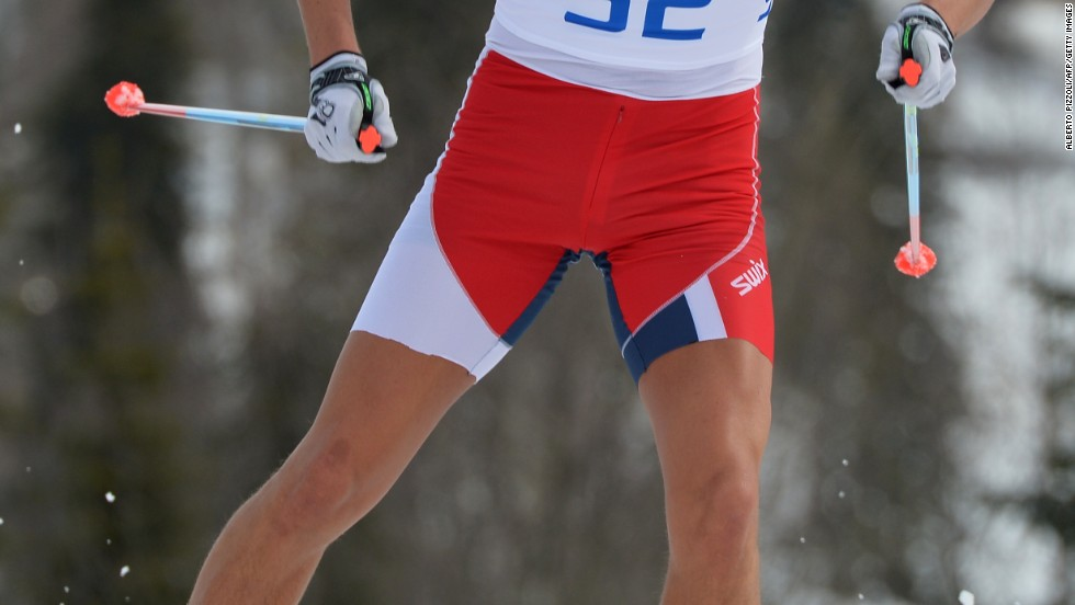 When he heard that the temperature might rise as high as 18 degrees during the men's cross-country 15 km race, Norway's Chris Andre Jespersen took a radical step and competed in cutoff sports tights. He finished sixth.