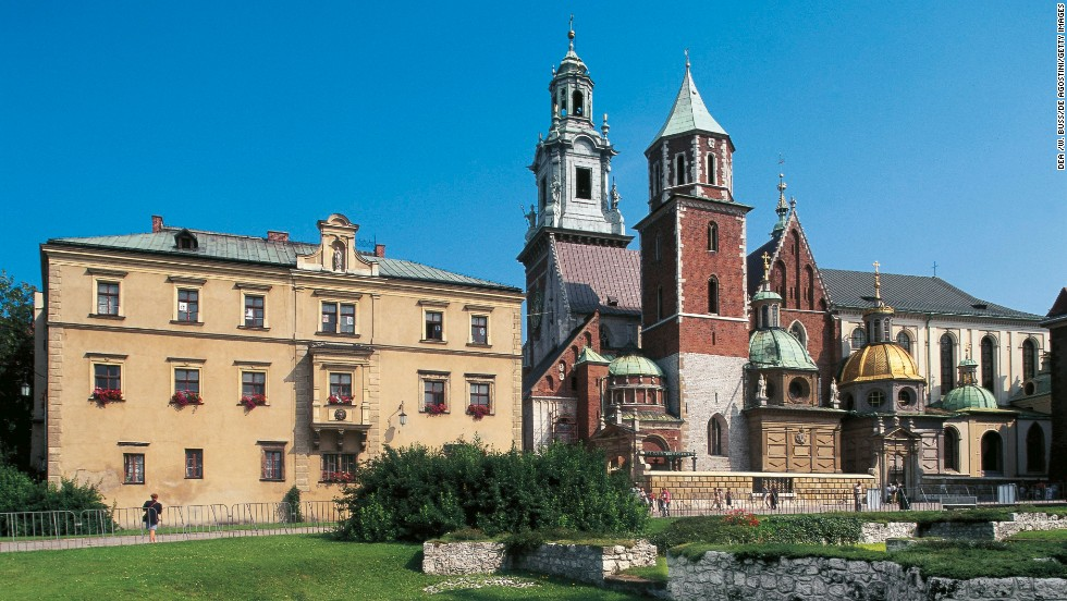 Krakow's historic center in Poland is an excellent example of medieval architecture, including Wawel Castle and Wawel Cathedral.