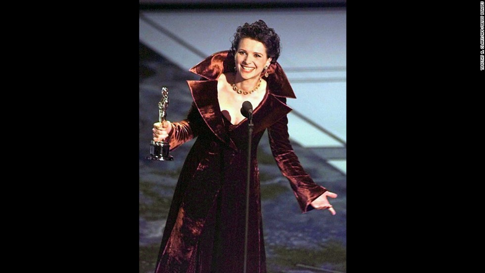"Even Juliette Binoche is shocked to win an Oscar for best supporting actress in 1997 for her performance in ""The English Patient."" It was Lauren Bacall's first ever nomination for ""'The Mirror Has Two Faces,"" and she was favored to win."