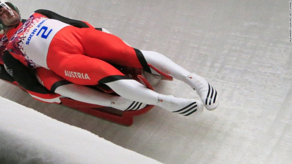 "Luge shoes were definitely among the strangest equipment seen in Sochi. The lightweight, aerodynamic ""booties"" have firm, smooth outer soles and are not designed for walking, as the foot completely straightens out when the zipper is closed."