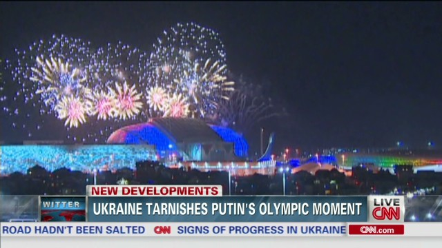 Ukraine tarnishes Putin's Olympic moment